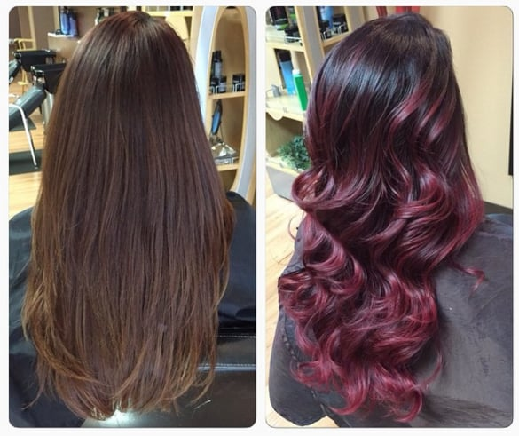 Red Ombre Hair Popsugar Beauty