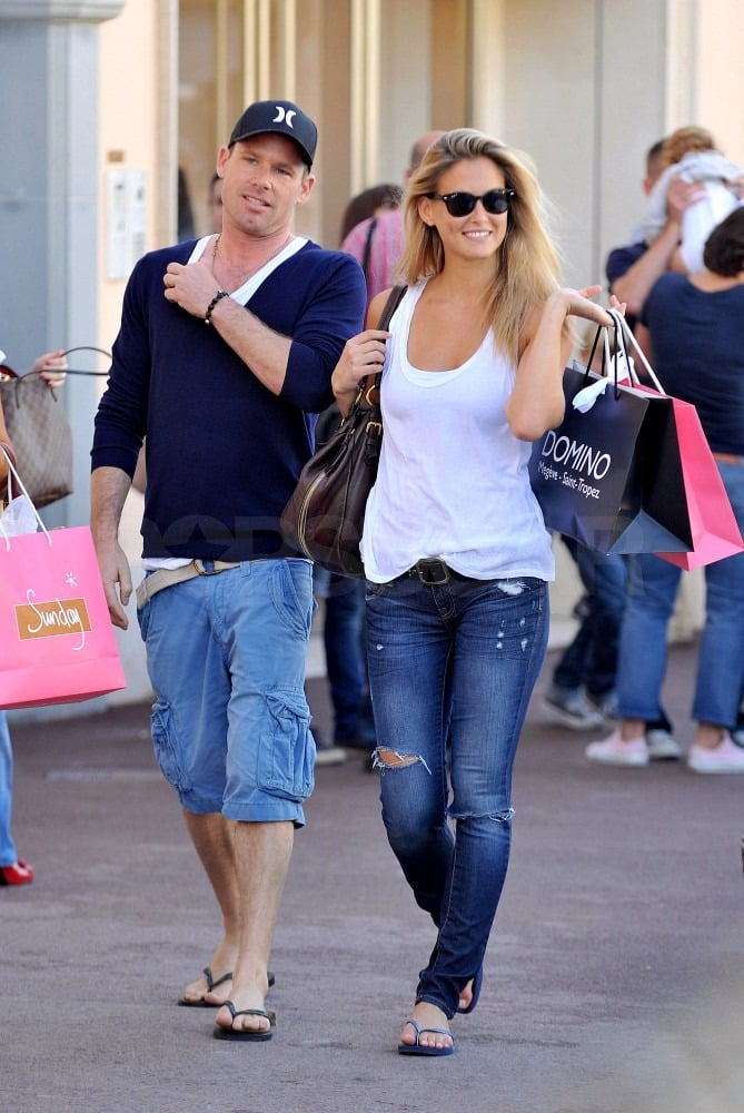 Bar Refaeli did some light shopping in the heart of St. Tropez yesterday with her rumored boyfriend David Fisher. David Fisher and Bar Refaeli were in Tel Aviv just last week, and now it seems they've taken their romance on the road to France. Bar's been known to slip into a bikini and go for a swim while vacationing near the Mediterranean, though this time she stuck with ripped jeans and a tank top. Bar and David may be settling into a new relationship status as her ex, Leonardo DiCaprio, moves forward with Blake Lively.