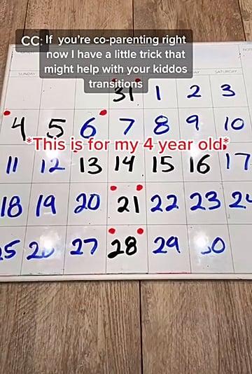 Mom on TikTok Shares Helpful Coparenting Calendar For Kids
