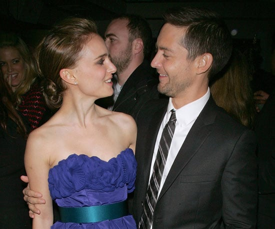 Slide Photo of Natalie Portman and Tobey Maguire at Brothers Screening