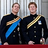 Pictured: Prince William, Prince Harry.