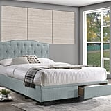 Grise Tufted Upholstered Storage Platform Bed