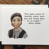 Rosa Parks Quote Card