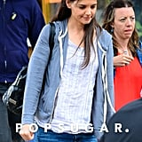 On Wednesday, Katie Holmes popped up on the NYC set of her new Spike Lee movie, Mania Days.