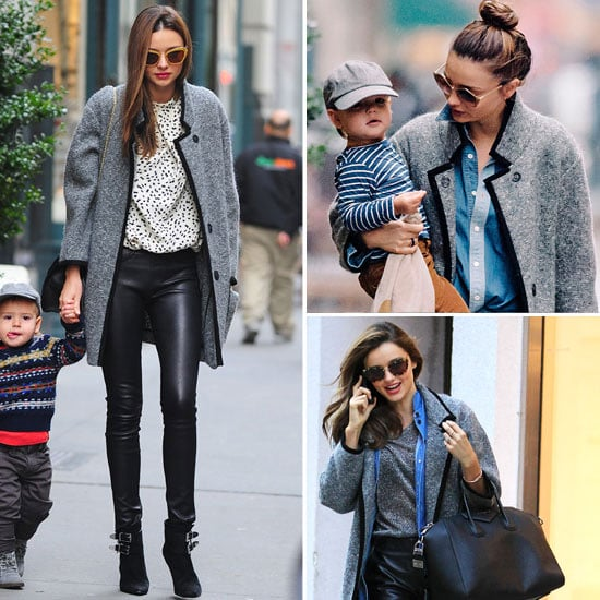 In Love With . . . Miranda Kerr's Grey Tweed Isabel Marant Coat