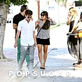 Jenna Ushkowitz, Kevin McHale, and Vanessa Lengies all gathered together at Paramount Studios in LA.