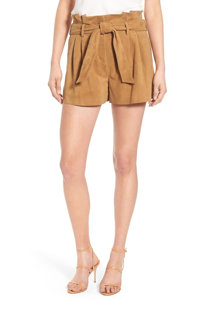 Olivia Palermo + Chelsea28 Belted Suede Shorts ($198)