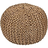 Madeline: Bermuda Pouf in Khaki Design by Surya