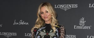 Don't Let Kaley Cuoco's Colorful Dress Distract You From Those Insane Shoes