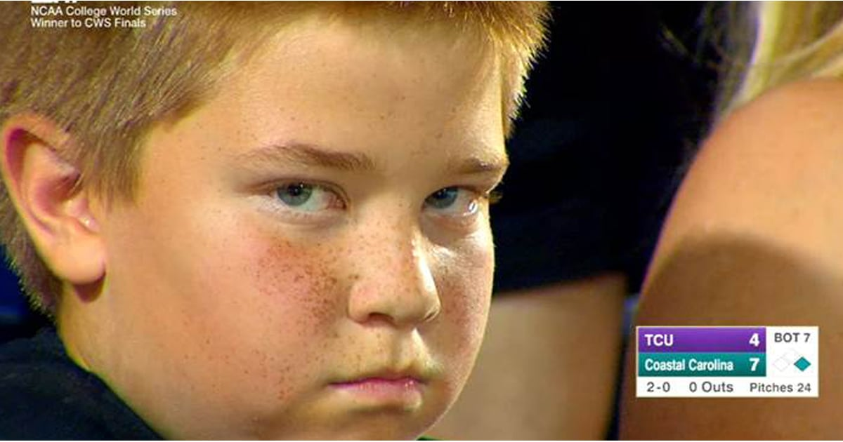 Kid Stares During NCAA College World Series | Video ...