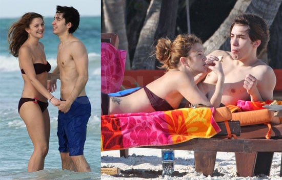 Drew Barrymore and Justin Long in Mexico