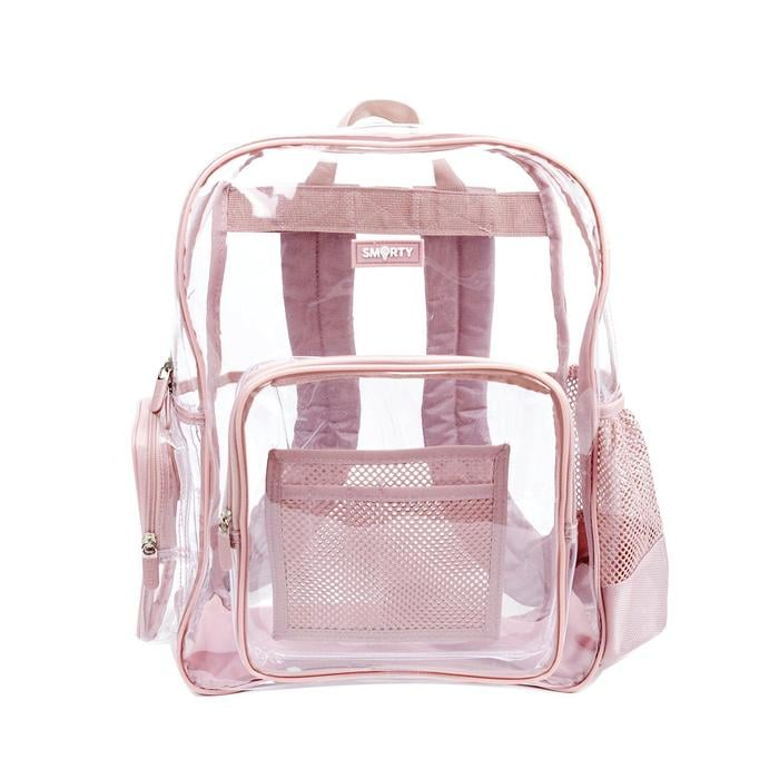 Heavy Duty Clear Backpack Pretty Pink