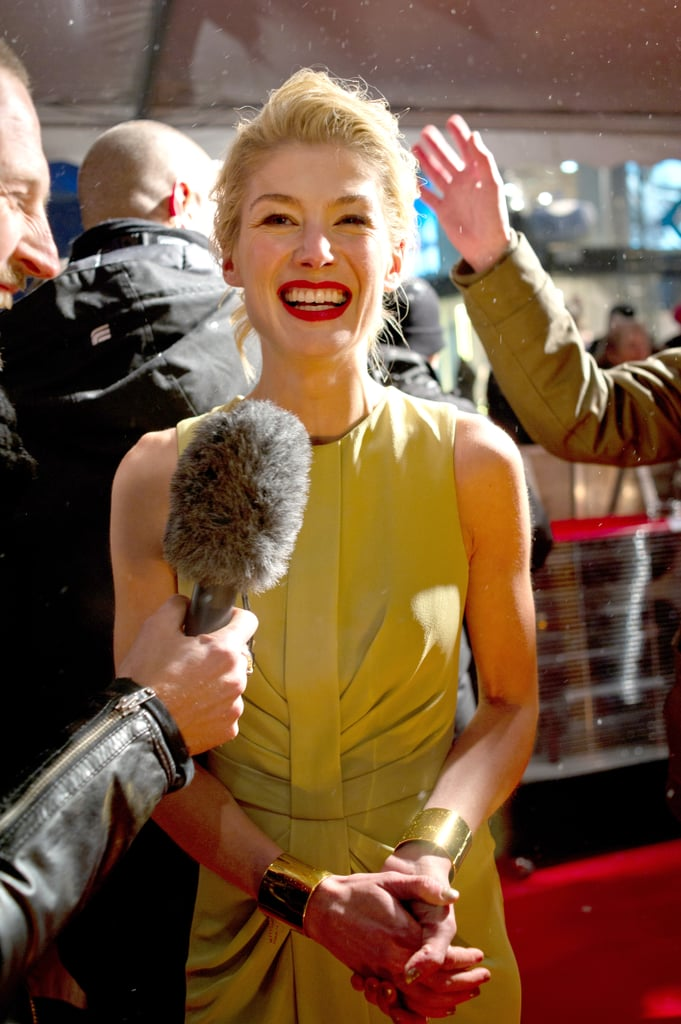 Rosamund Pike gave an interview.