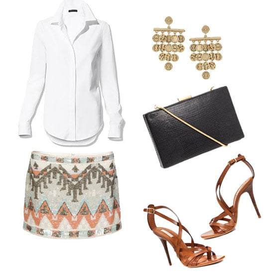 How to Wear a White Shirt: Evening Out