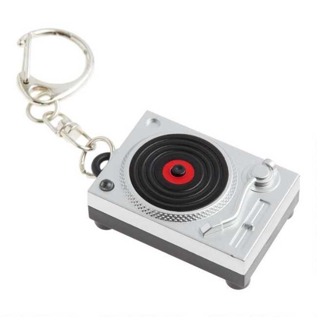 Kikkerland LED Turntable Keychain