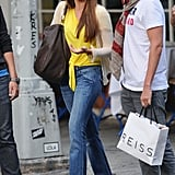 Sofia Vergara doubled up on the Summer statement front by donning a bright yellow tie-front blouse while out and about in NYC.