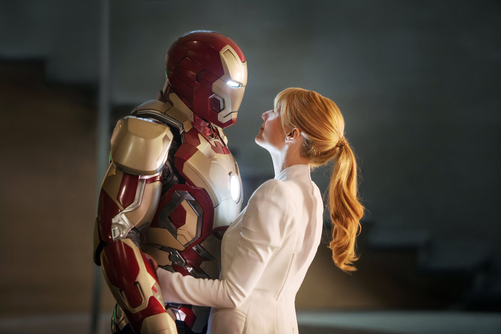 IRON MAN 3, from left: Robert Downey Jr., as Iron Man, Gwyneth Paltrow, 2013. Walt Disney Pictures/courtesy Everett Collection
