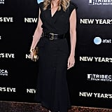 Michelle Pfeiffer chose an all black ensemble for the New Year's Eve premiere.