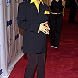 On the red carpet in 2004.