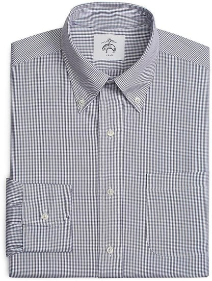 Button-Down Shirt with Mitered Cuffs