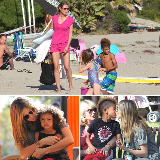 Heidi Klum Spends a Weekend in the Sunshine With Her Mother and Kids