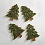 Beaded Christmas Tree Coasters ($20 for a set of four)