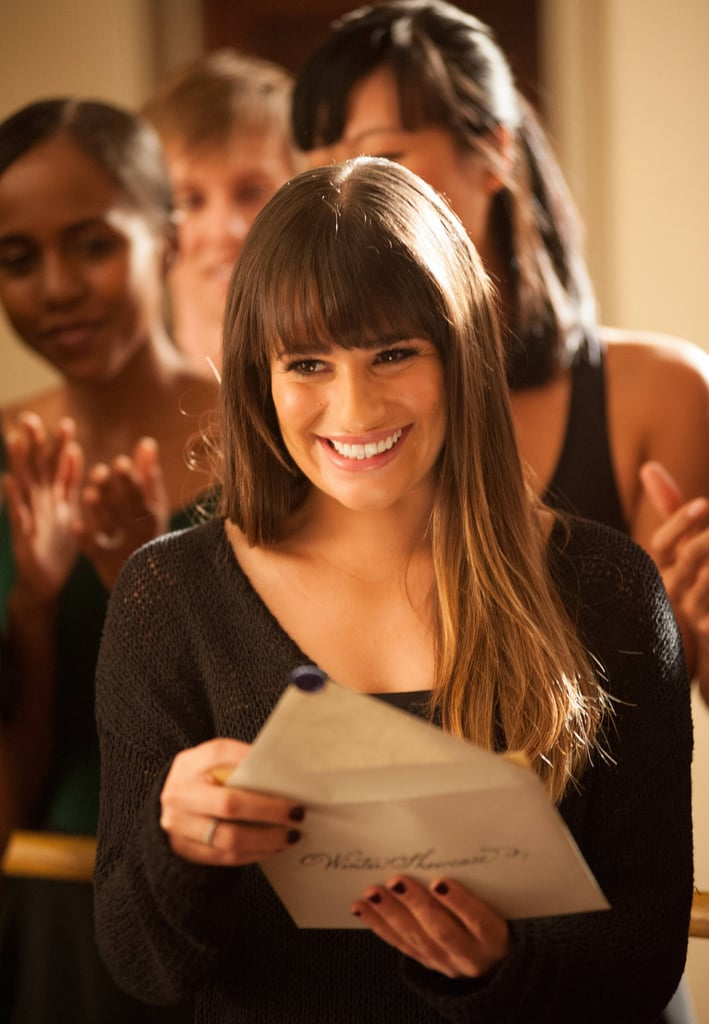And when Rachel starts to get recognized at school, she's thrilled and humble — nothing like the girl who desperately needed to have all the solos for New Directions.