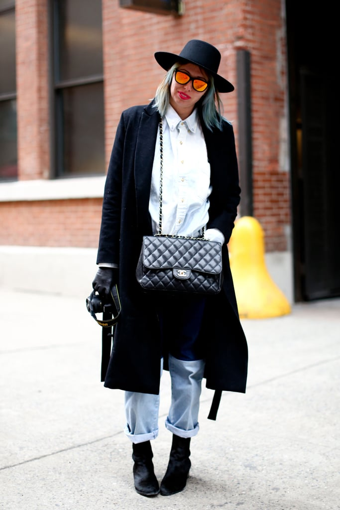 Boyfriend jeans get a serious makeover with luxe add-ons.