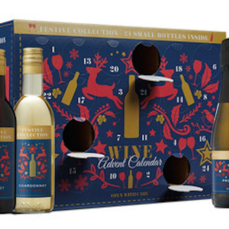 Aldi Wine Advent Calendar.Festive Collection Wine Advent Calendar From Aldi 2018 Popsugar Family