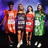 Taco Bell Hot Sauce Tunic, Diablo Sauce Dress, Fire Sauce Dress, and Verde Sauce Tunic
