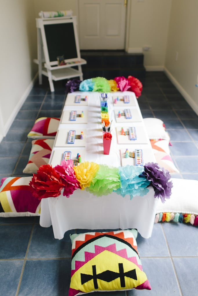 At 37-Weeks Pregnant, 1 Mom Threw the Chicest Rainbow Birthday Party You've Ever Seen