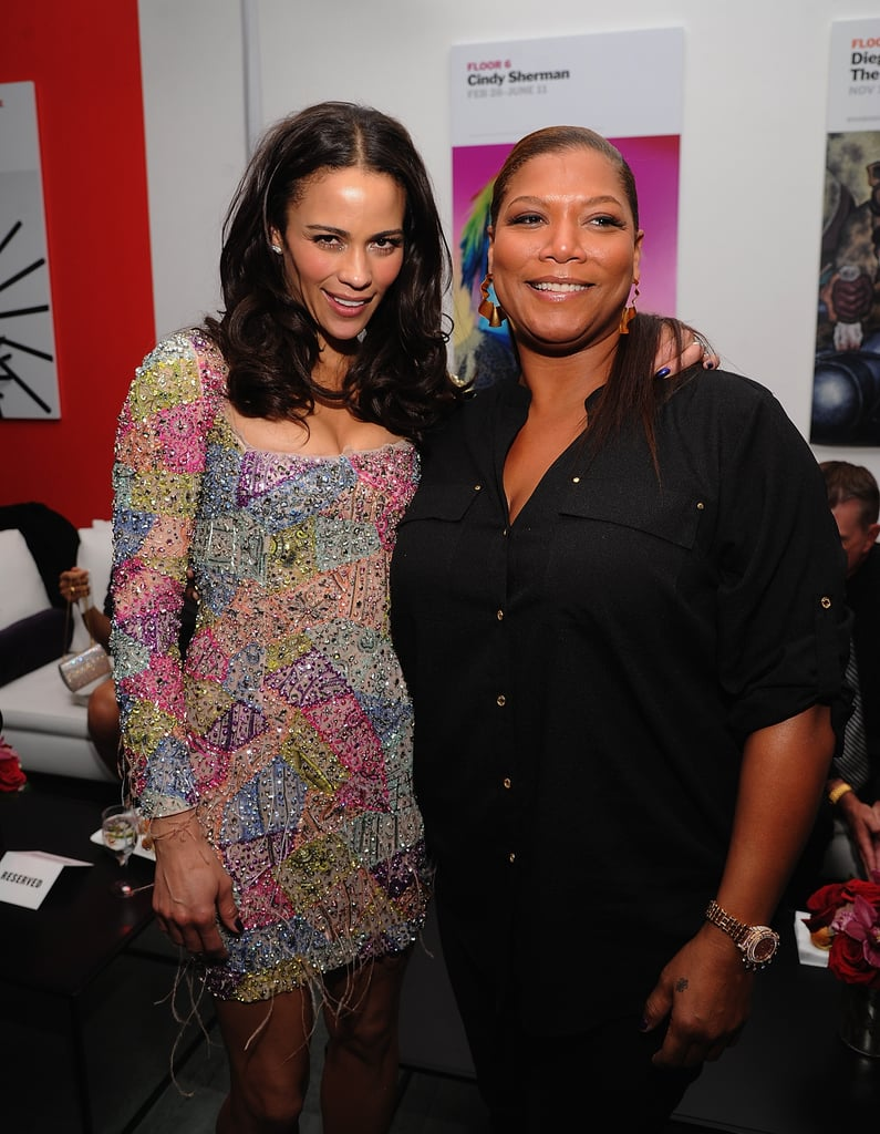 Paula Patton and Queen Latifah partied together at NYC's Meatball Shop.