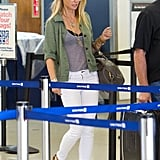 Gwyneth Paltrow's casual look when touching down at LAX in August was one of Summer's more memorable style moments.