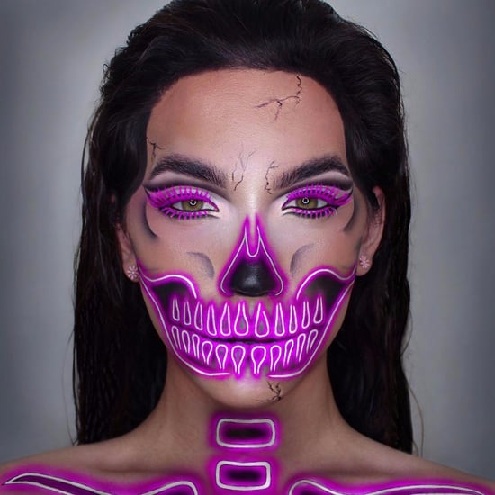Neon Skeleton Makeup