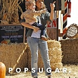 Jessica Alba and Haven Warren went to an LA pumpkin patch on Saturday.