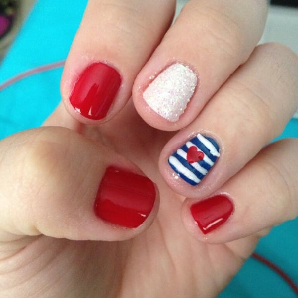 4th of july nail designs popsugar beauty - Ideas For Nails Design