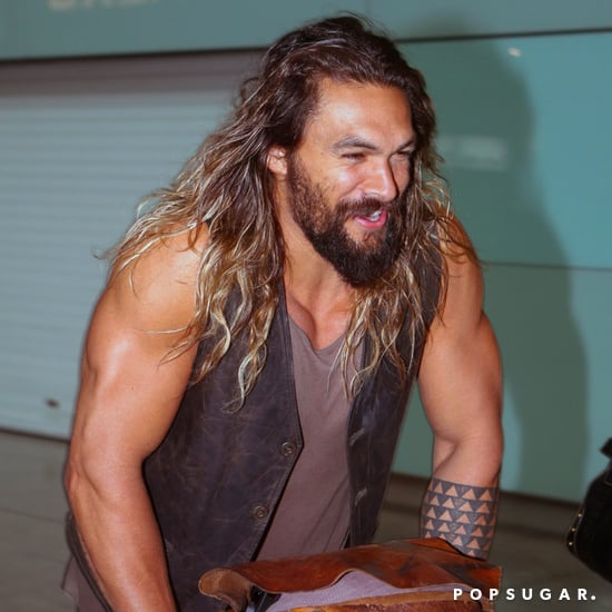 Jason Momoa at LAX Airport June 2017