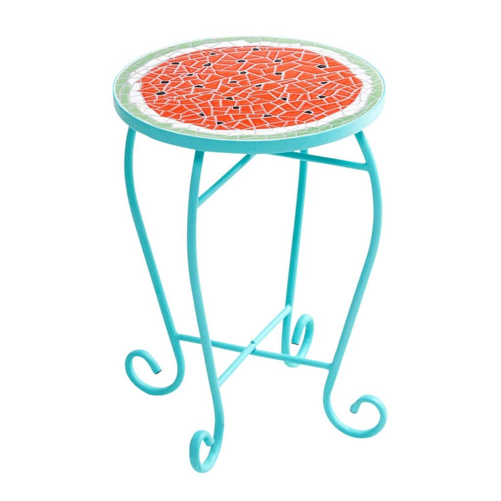 Watermelon Slice Mosaic Accent Table