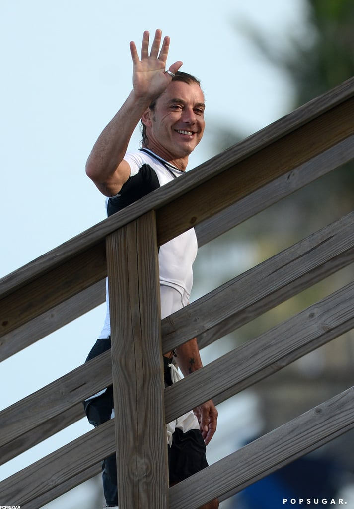 Gavin Rossdale gave a wave.