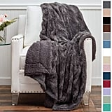 Connecticut Home Company Sherpa Reversible Throw Blanket