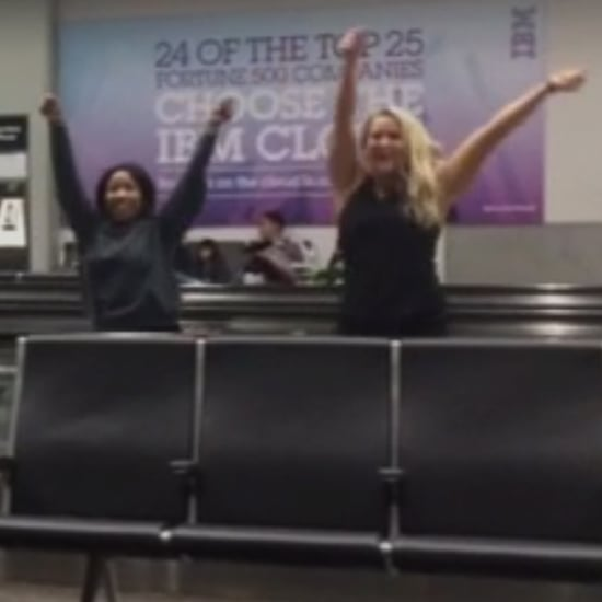 Girls Dancing in SFO Airport Video
