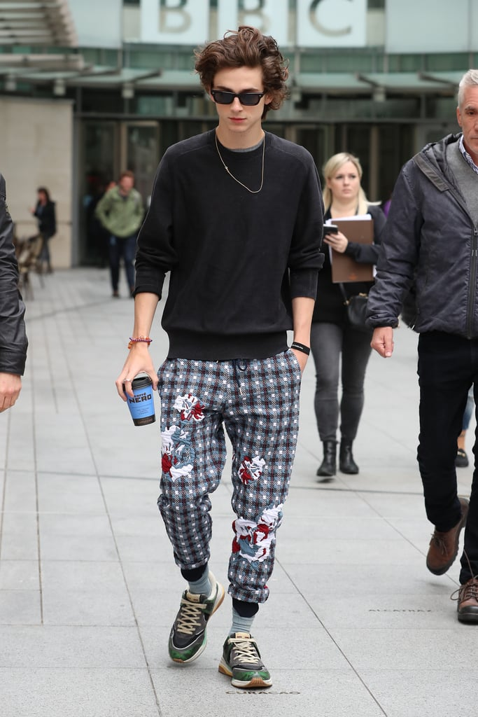 Yes, he's probably the only person who can make checkered joggers look cool.