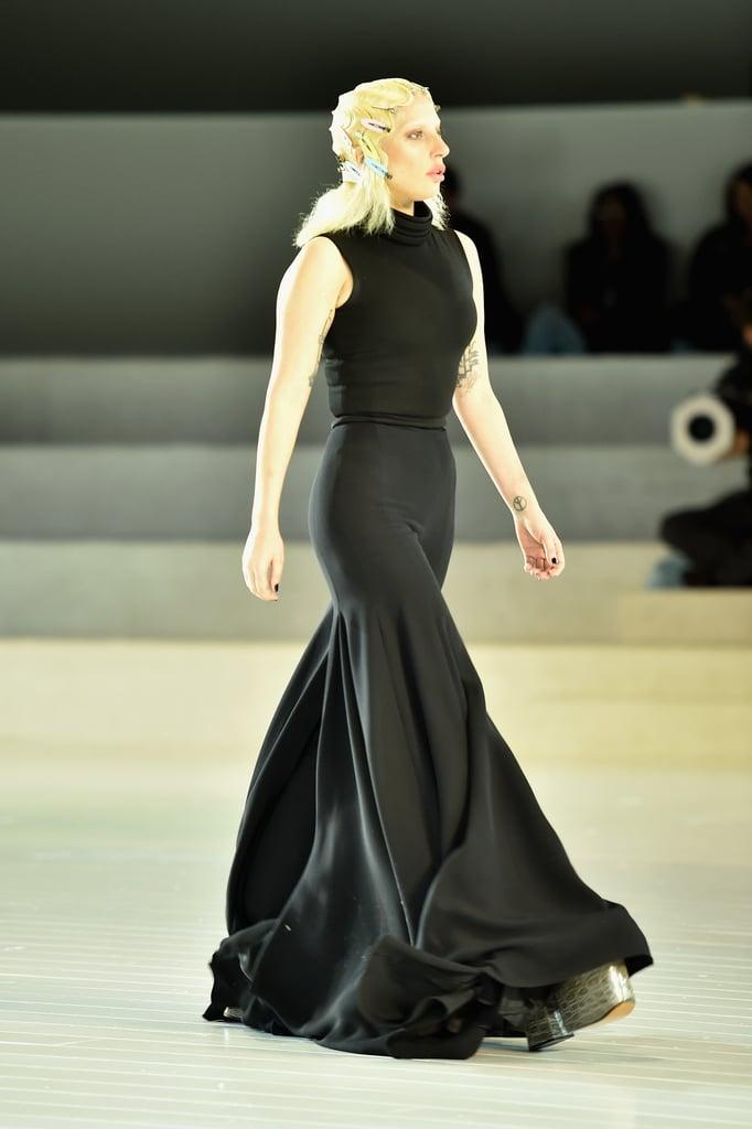 Lady Gaga Practiced Her Runway Walk Alongside All of the Models