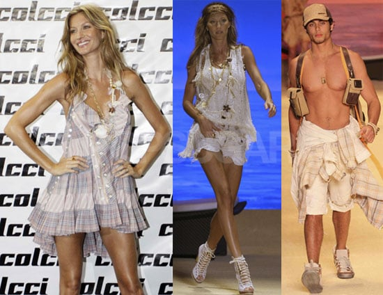 Photos of Gisele Bundchen and Jesus Luz at Sao Paolo Fashion Week