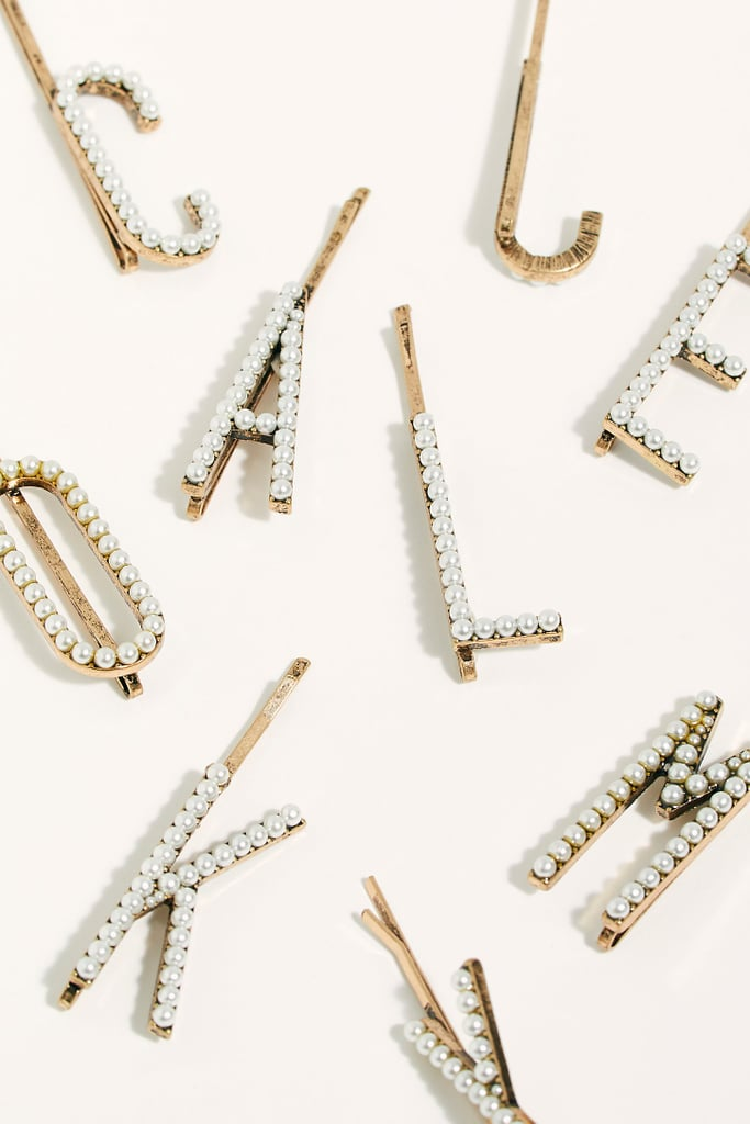 Pearl Letter Bobby Pin