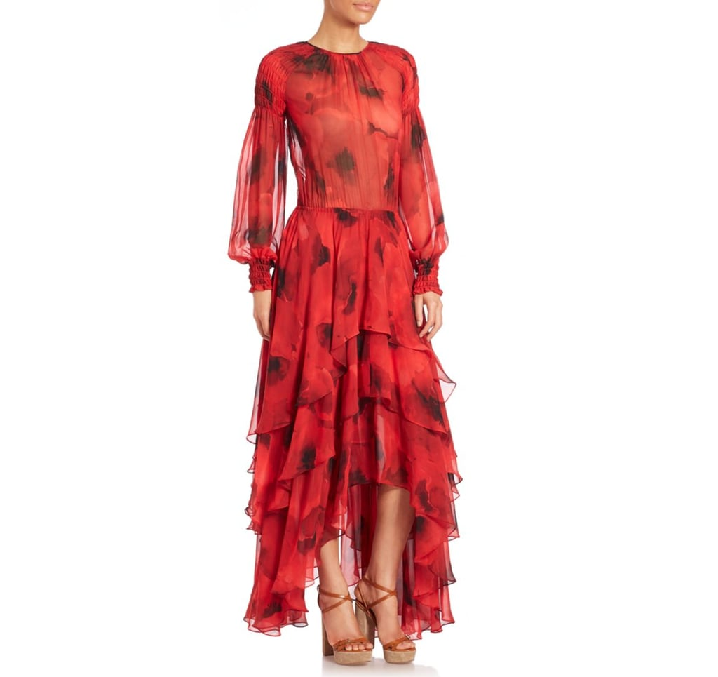 Michael Kors Poppy Print Silk Chiffon Tiered Dress ($3,995)