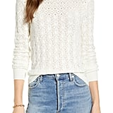 Rachel Parcell Pointelle Cotton Blend Sweater
