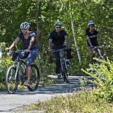 When they enjoyed a family bike ride in Martha's Vineyard.