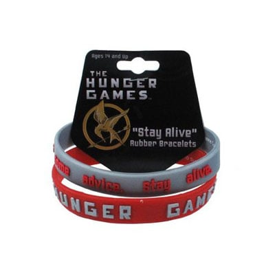 The Hunger Games Stay Alive Rubber Bracelet Two-Pack ($14)
