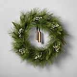"24"" Artificial Pine Wreath With Bell ($35)"